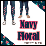 Fall Navy Floral (Leggings)