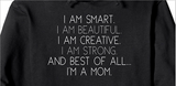 Best of all...I'm a Mom. (Pullover Adult Hoodie)