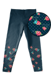 Fall Navy Floral (Kid's leggings)