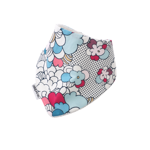 Comic Flowers Bib
