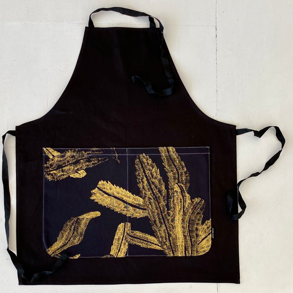New for the holidays! Gold Linsey APRON.