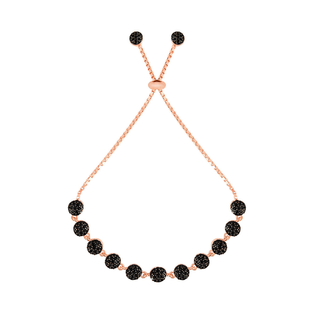 Elegance in Black and Rose Gold Bracelet