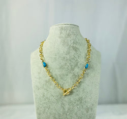 Blue Beads Necklace