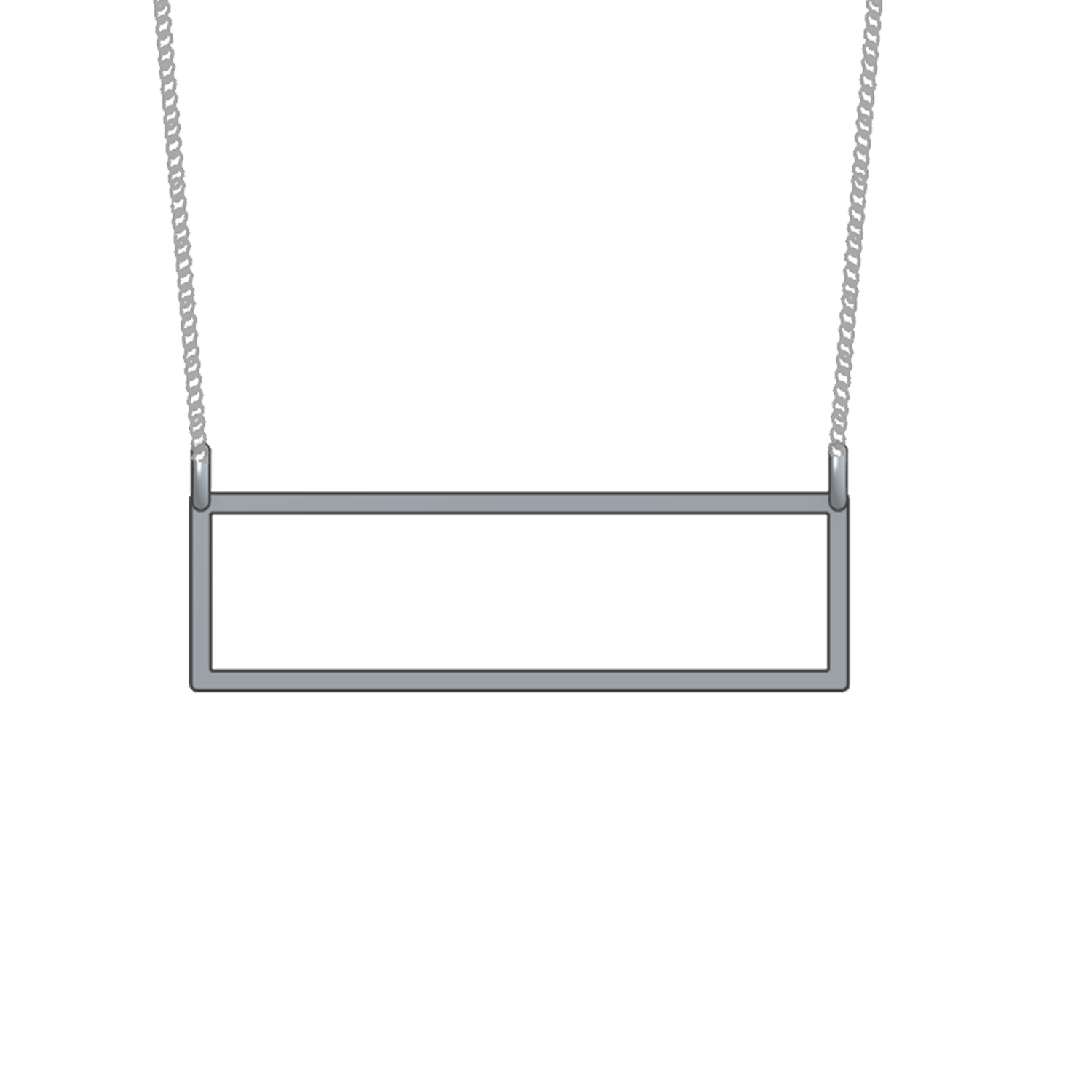 rectangle iconery necklace silver yellow bar or gold horizontal lifestyle products