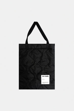 QUILTED TOTE BAG - BLACK