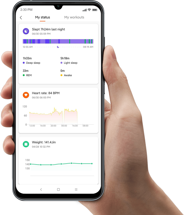 Daily health data<br><span>at your fingertips</span>
