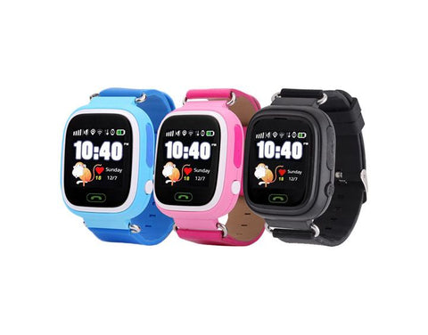 Waterproof Kids GPS Tracker Watch<br>(12-Hour Display)