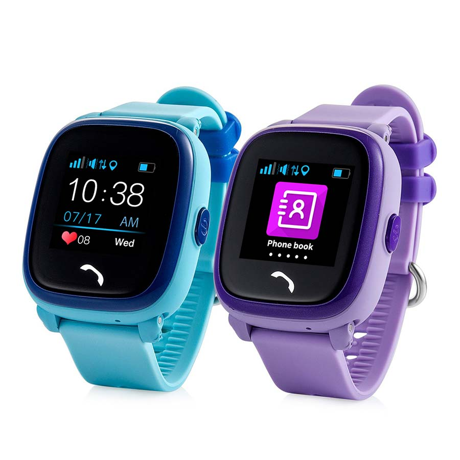Waterproof Kids GPS Tracker Watch side by side