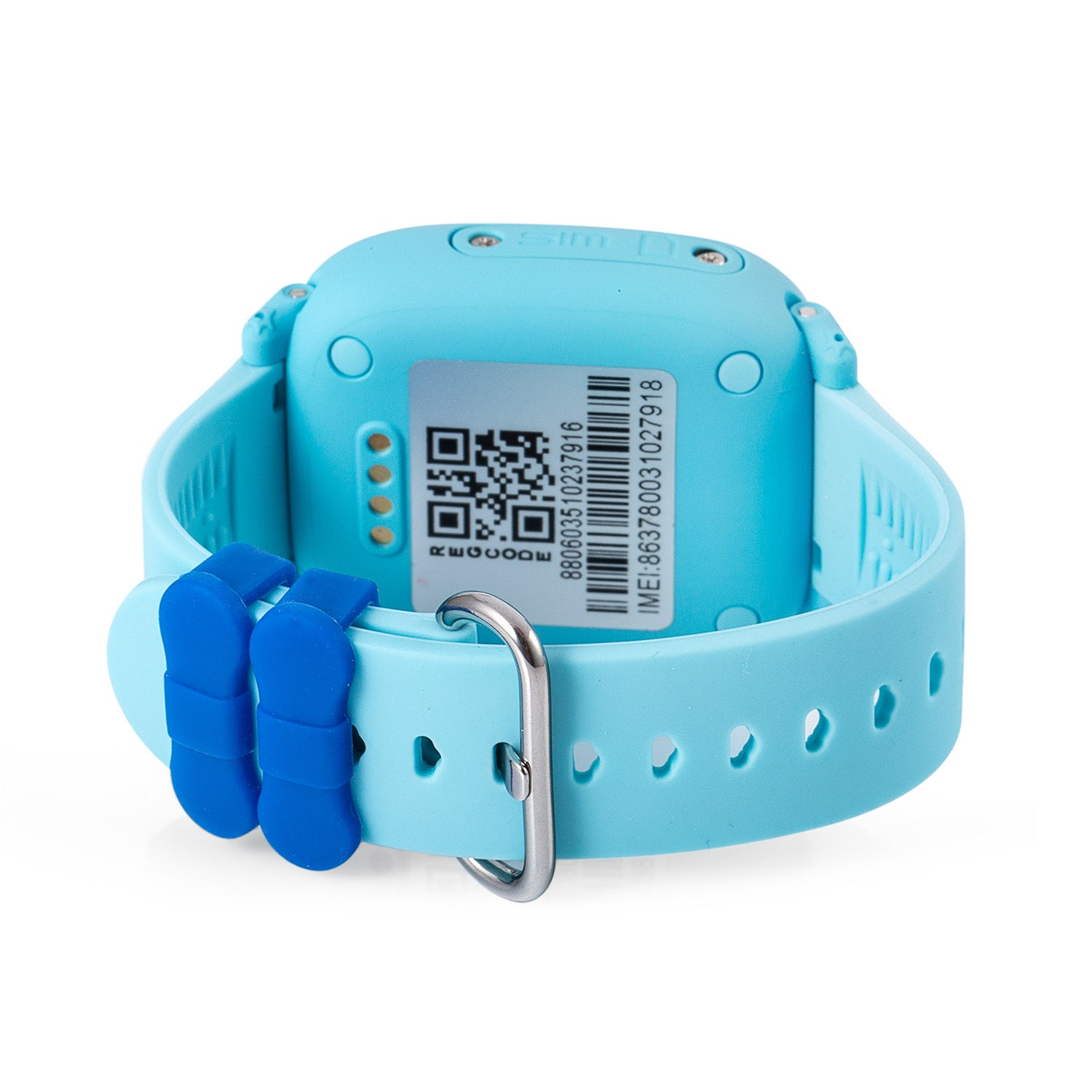 Bottom of Waterproof Kids GPS Tracker Watch