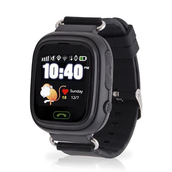 Black 12 Hour Kids GPS Tracker Watch