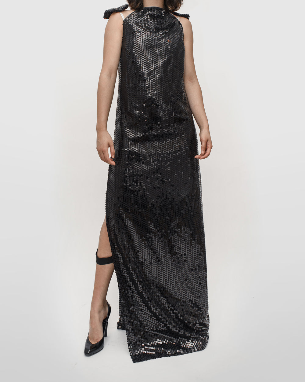 Helmut Lang AW99 Sequined Bondage Astro Gown