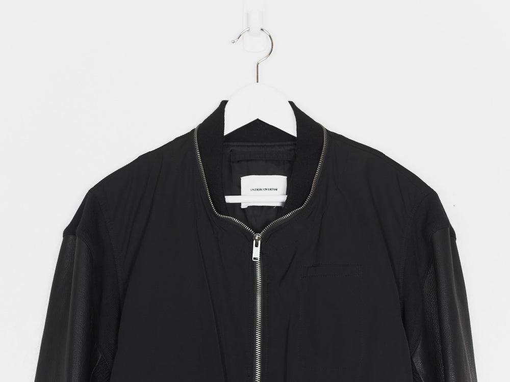 Undercover AW11 Mirror Leather Sleeve Ma-1 Bomber
