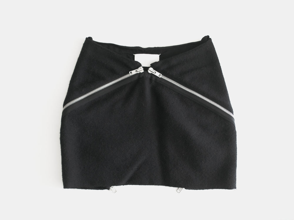 Maison Martin Margiela AW08 Double Zip Mini Skirt