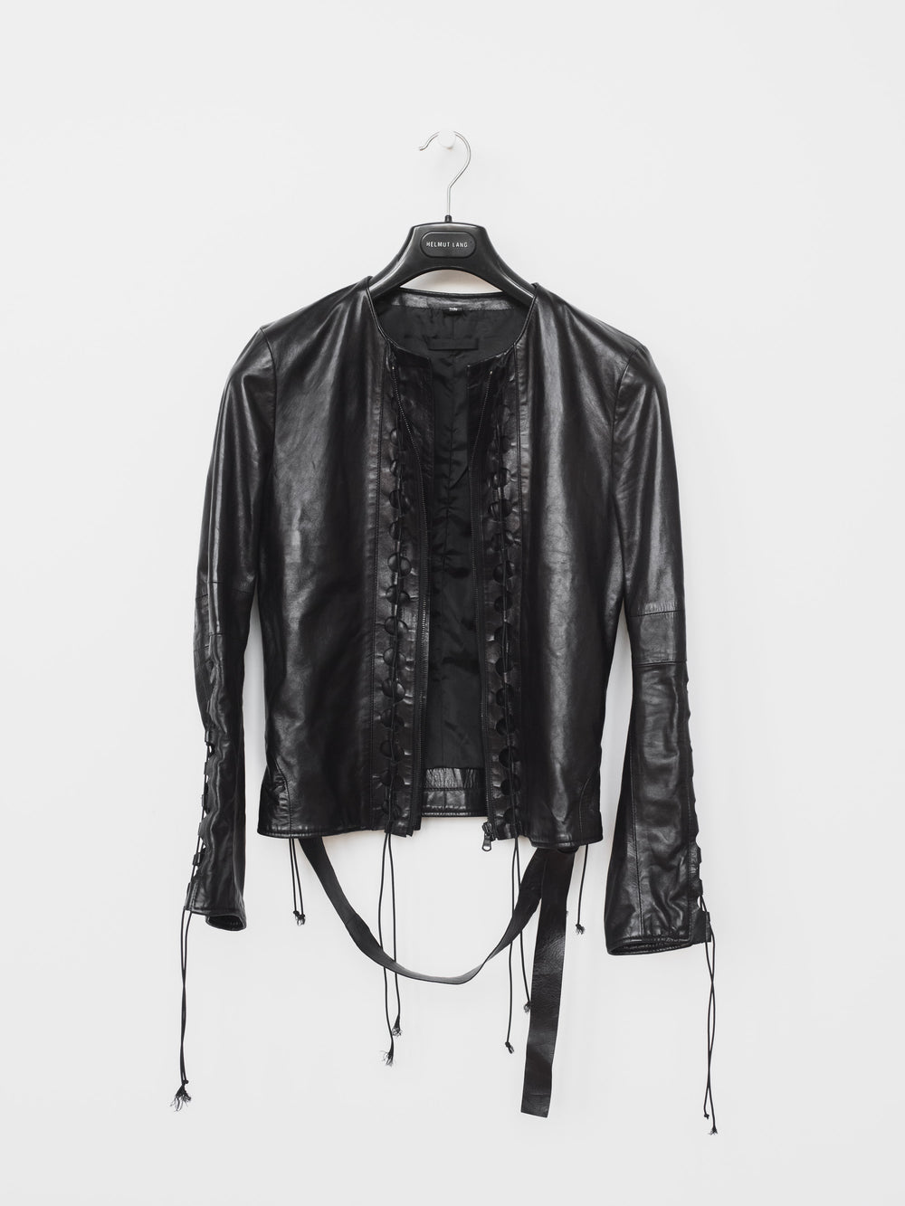 Helmut Lang SS01 Lace Up Corset Leather Jacket