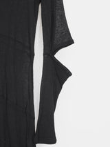Helmut Lang AW96 Sheer Slashed Elbow Dress