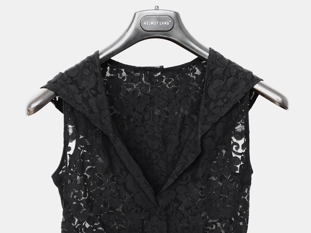 Helmut Lang SS96 Hooded Floral Lace Dress