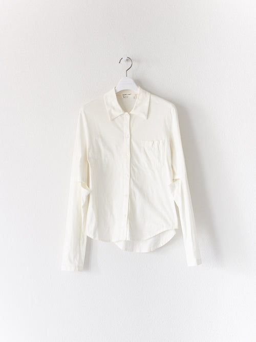Helmut Lang 1998 Elbow Slit Cutout Button Shirt