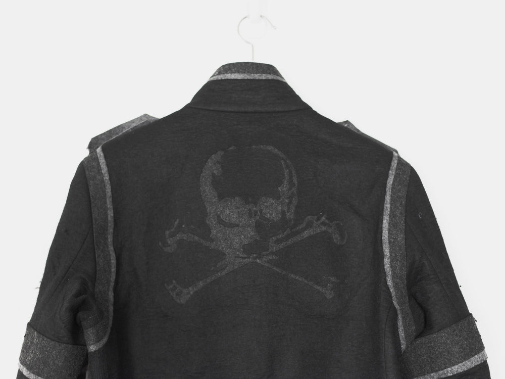 Undercover AW05 Arts and Crafts Skull Felt Wool Jacket
