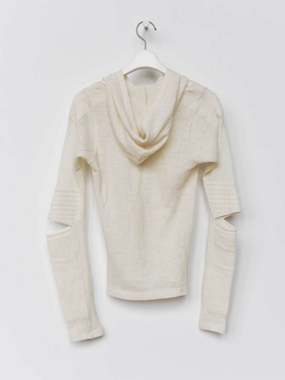 Helmut Lang AW99 Astro Biker Sheer Cutout Hooded Sweater