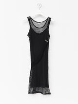 Helmut Lang SS98 Fishnet & Slip Dress