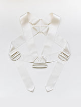 Helmut Lang AW03 Safety Cage Parachute Harness Silk Facsimile Cream
