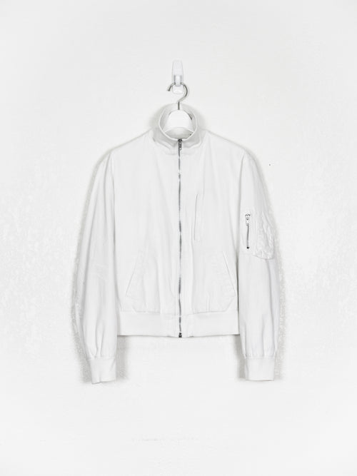 Helmut Lang SS99 Resin Coated High Collar MA-1 Bomber