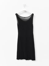 Yohji Yamamoto Semi Sheer Scoop Neck Dress