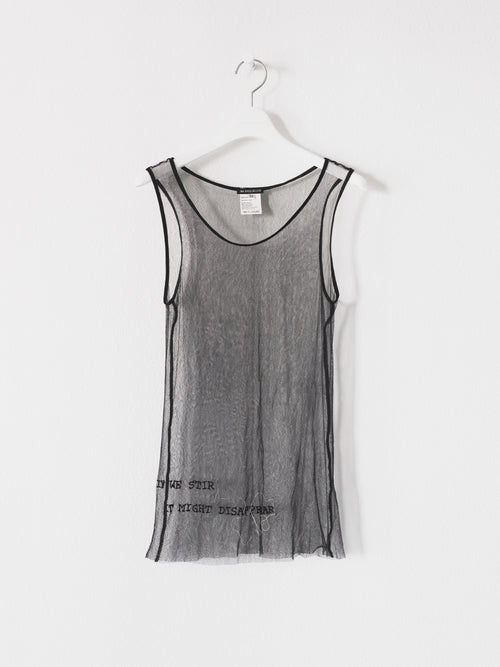 Ann Demeulemeester SS00 Patti Smith Beaded Sheer Tunic