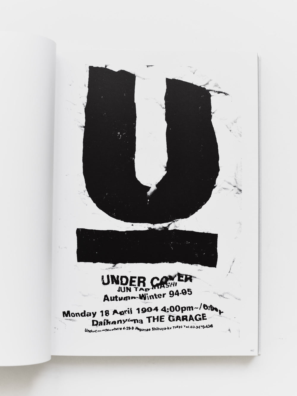 Undercover T-Graphics History of Undercover Book