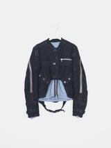 Dries Van Noten AW14 Moleskin Backzip Bomber