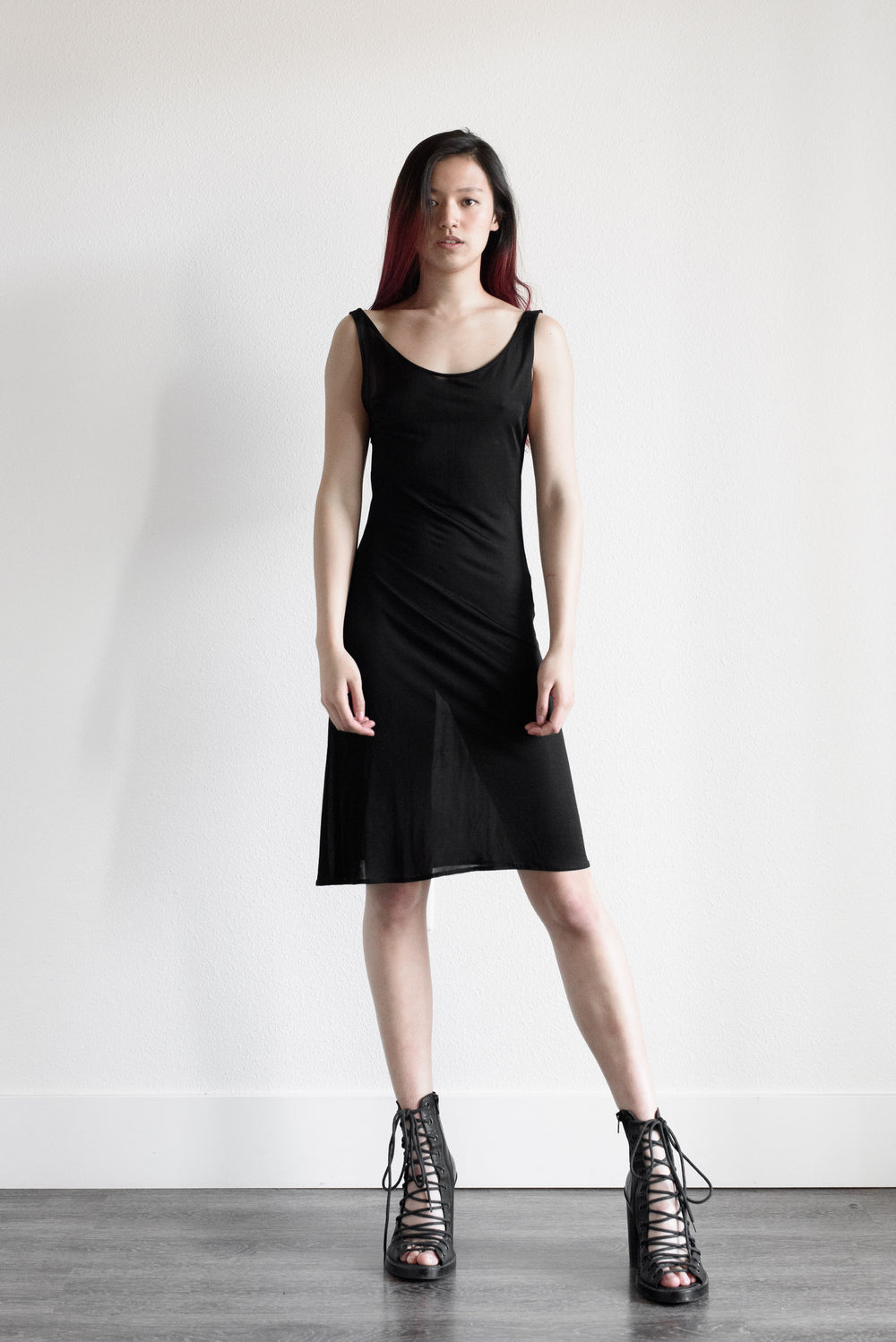 Yohji Yamamoto Semi Sheer Backless Dress