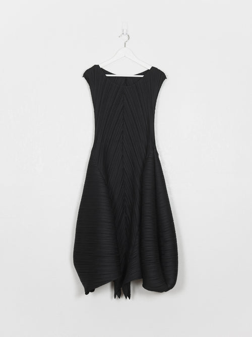 Issey Miyake Pleats Please Flared Sleeveless Dress