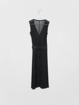 Issey Miyake Pleats Please Sheer Wrap Dress