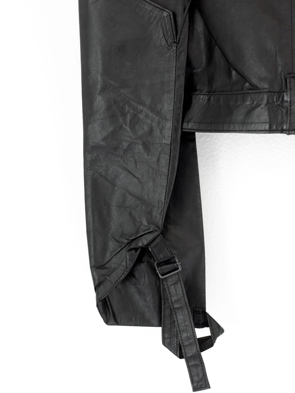 Ann Demeulemeester SS04 Kangaroo Leather Paneled Garter Skirt