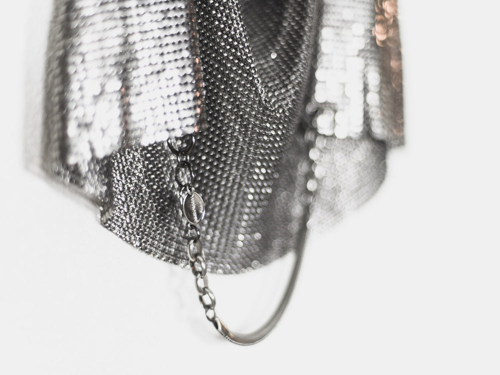 Paco Rabanne 1970s Metal Chainmail Mesh Halter Top
