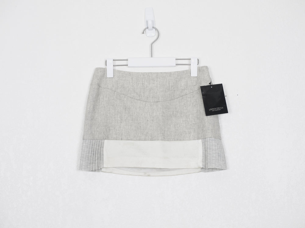 Undercover AW07 Pleated Mixed Material Mini Skirt