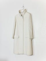Helmut Lang AW97 Alpaca Fur High Collar Parka