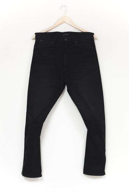 Lad Musician Jodhpur Taper Ankle Zip Denim