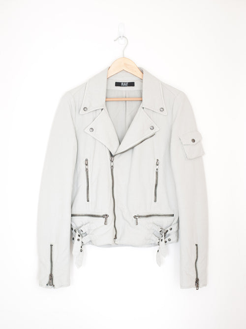 Raf by Raf Simons White Cotton Double Rider