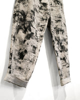 Yohji Yamamoto Pour Homme Hand-Painted Linen Trousers