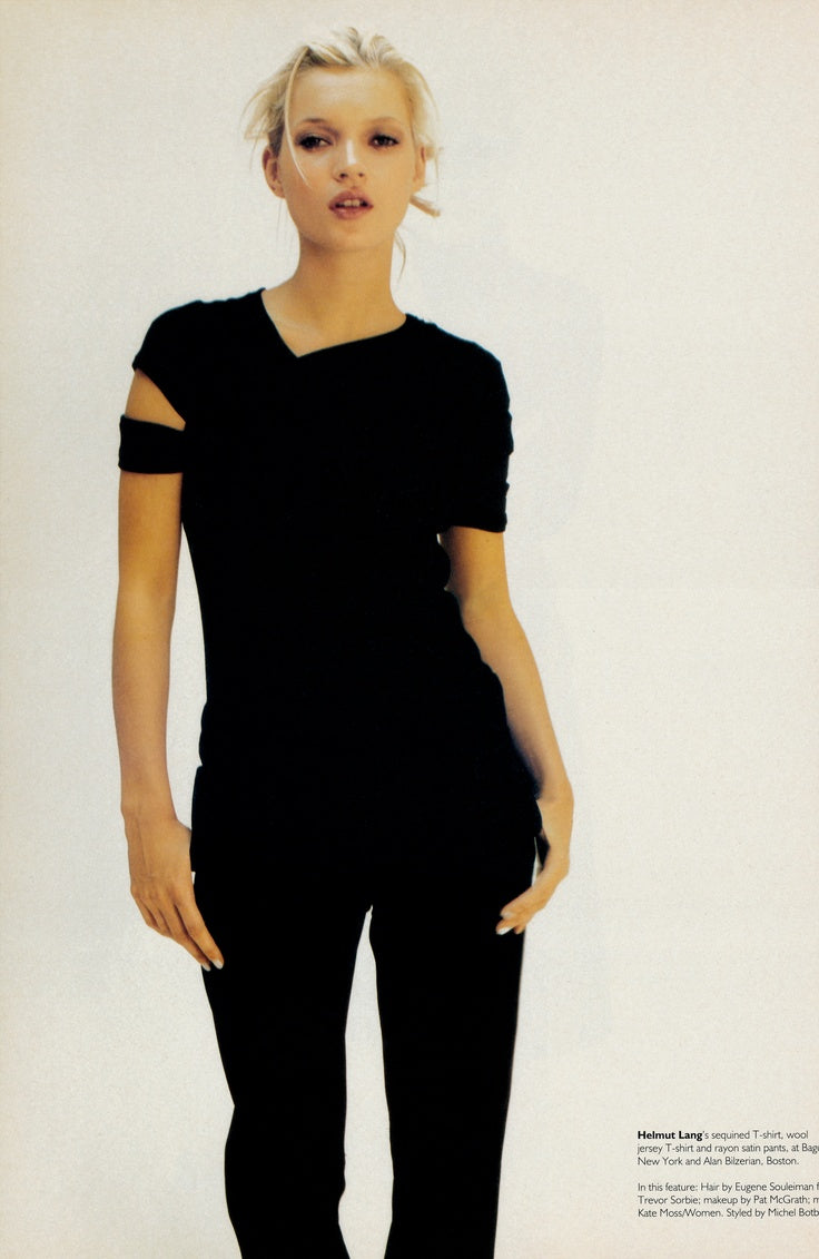 Helmut Lang SS98 Slashed Sleeve Sheer Tee
