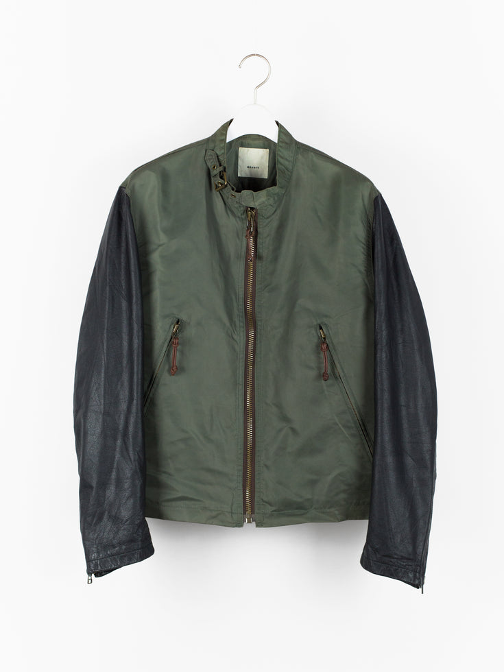 Dézert 90s Leather Sleeve Blouson
