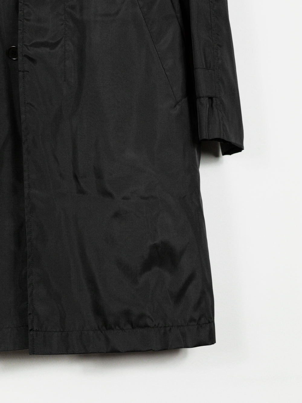 Helmut Lang Contrast Collar Technical Mac Coat