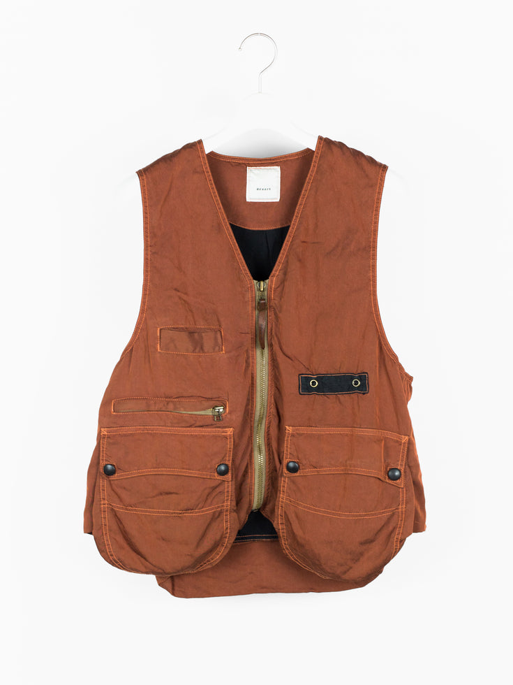 Dézert 90s Rust Orange Utility Vest