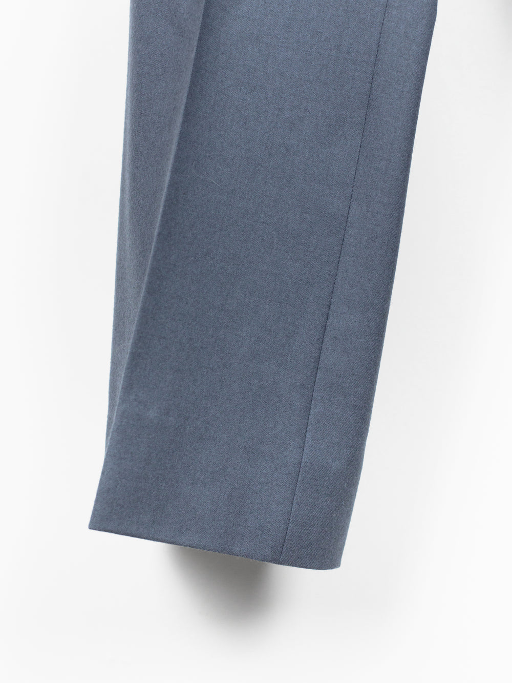 Miu Miu Men's Grey-Blue Flared Wool Trousers