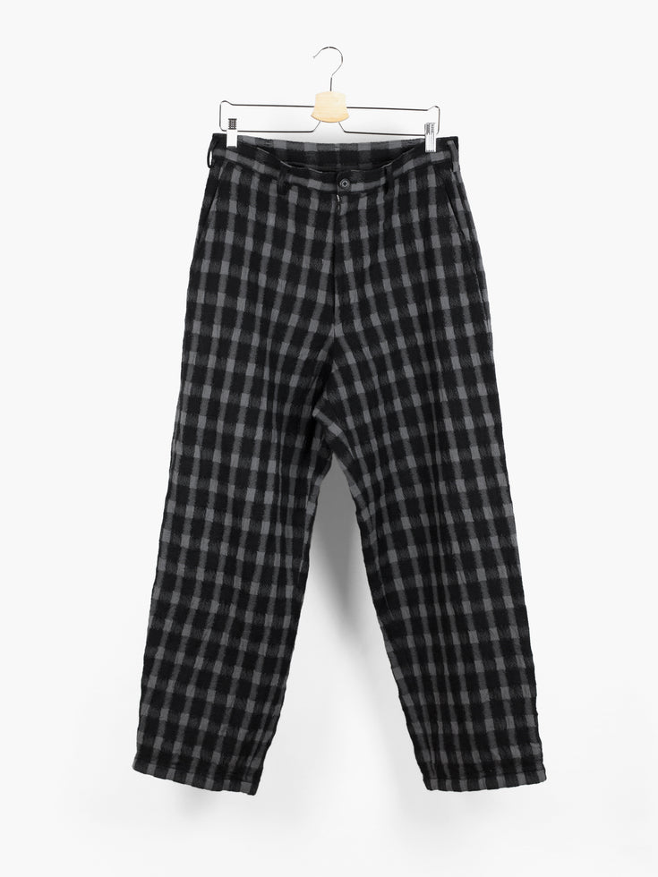 Yohji Yamamoto Y's For Men Wool Check Wide Pants