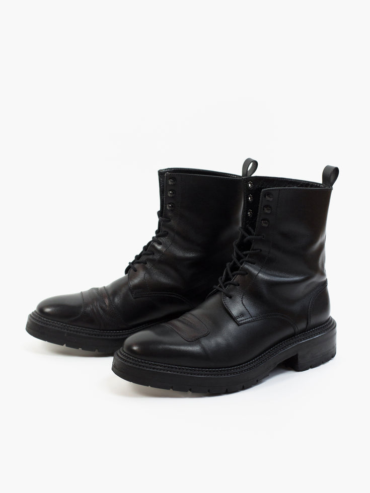 Yang Li Triple Welted Patch Derby Boot