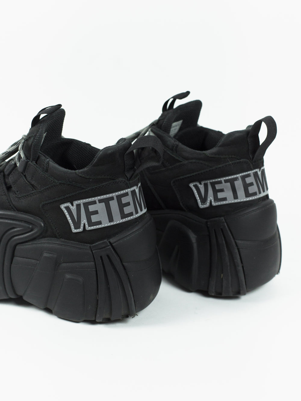 Vetements AW18 SWEAR Nubuck Platform Sneakers