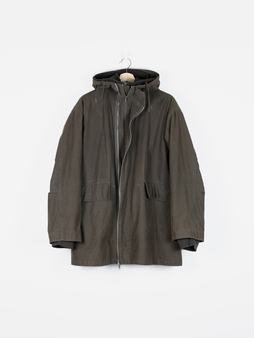 Helmut Lang AW98 Military Parka w/ Removable Fleece Lining