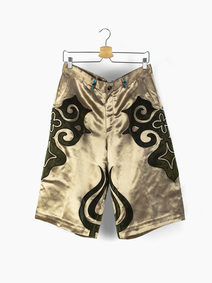 Penultimate SS21 Beaded Satin Shorts